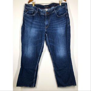 Silver Jeans Dark Wash Aiko Flood Length Jeans 22